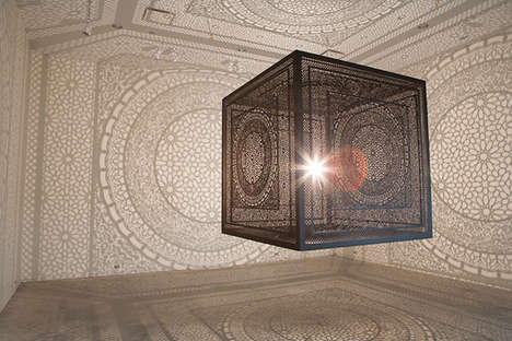 Illuminating Wooden Carved Cubes - This Artist Has Crafted a Carved Wooden Cube That Emits Light