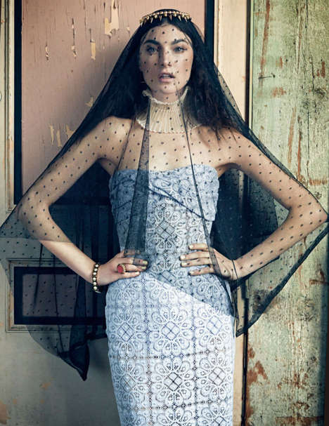 Romantically Eccentric Editorials - Jacquelyn Jablonski is in Harper's Bazaar Korea February 2