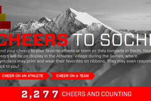 McDonald's Cheers to Sochi Site Connects Fans and Olympians