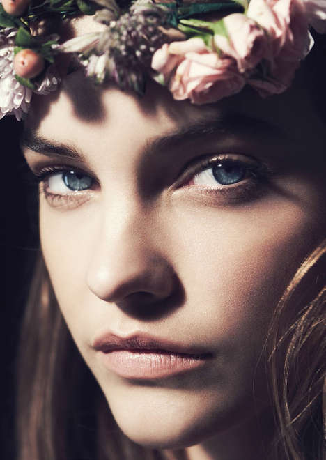 Innocent Floral Crown Photography - Jason Hetherington Shot Barbara Palvin for Marie Claire UK March