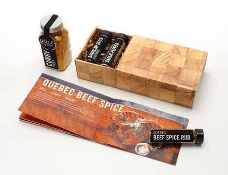 Cutting Board Cartons - The Spice House Packaging Adopts the Appearance of Culinary Items