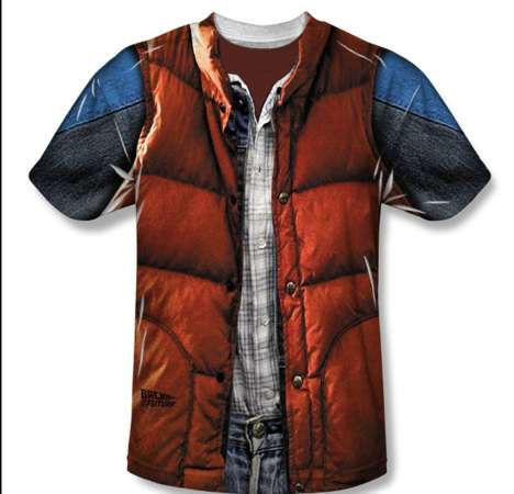 Iconic 80s Character Costumes - This Marty McFly T-Shirt is a Fun Tribute to an Iconic Character