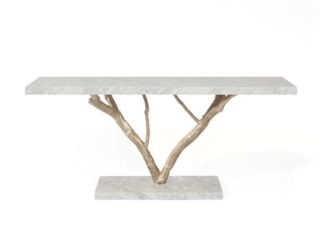 Elegant Earthy Furnishings - Primitive Console Marries Artificial and Organic Material Treatments