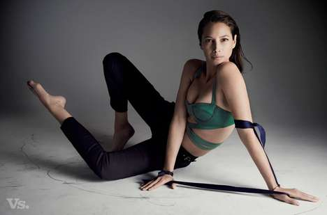 Graceful Minimalist Editorials - The Vs. Magazine Spring-Summer 2014 Issue Stars Christy Turlington