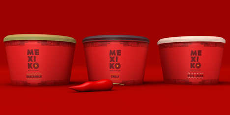 Sizzling Red-Hot Packaging - The Restaurant Branding Conceptualized for Mexiko is Fiery