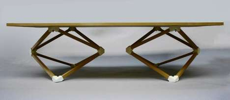 Geometric Furniture Bases - The Hedron Coffee Table by Benjamin Migliore is Sculptural