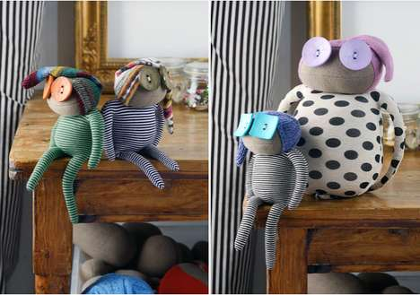 Upcycled Fabric Dolls - This Fabric Doll Set is Crafted from Recycled Luxury Fabrics