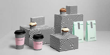 Chic Monochrome Mayan Packaging - The Xoclad Branding Identity is Fabulous and Chic