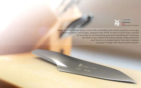 Beautiful Streamlined Blades - The WMF Audi Kitchen Knife is Made Up of One Continuous Component