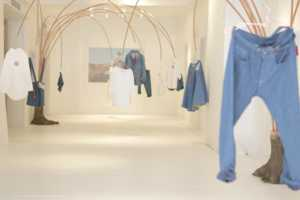 The Levi's RED Spring 2014 Pop-Up Shop Features Floating Denim Garments