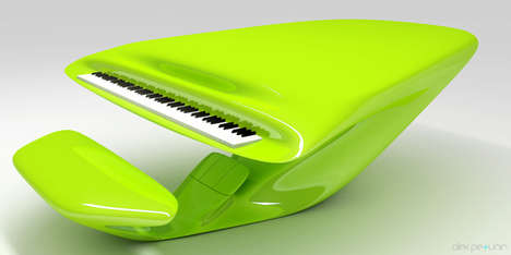 Funky Fluorescent Instruments - The Alien Piano is the Venutian Version of the Grand Piano