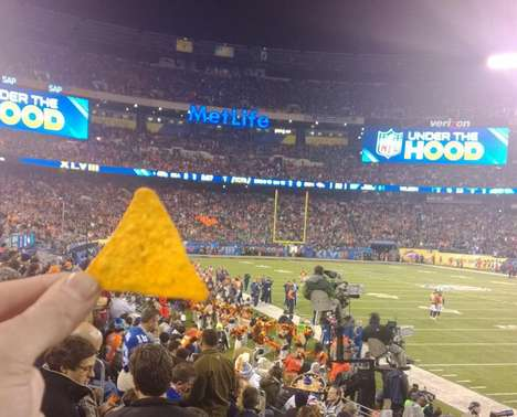 Gigantic Human Chip Clusters - This Doritos Super Bowl Stunt Formed the Largest Dorito Ever