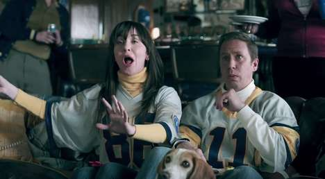 Dramatic Commercial-Viewing Ads - This Adobe Ad Pokes Fun at Hype Around Super Bowl Marketing