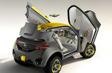 Robust Exploration Vehicles - The Renault KWID Concept Comes with a Drone for Reconnoissance