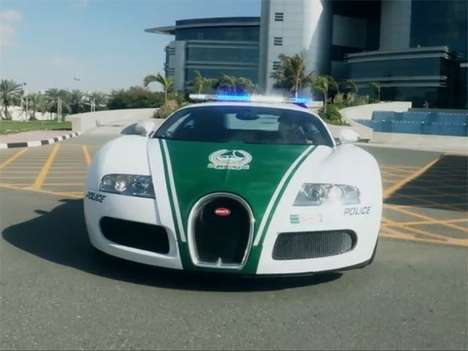 Record-Setting Police Supercars - The Dubai Bugatti Police Car Makes Speeding a Thing of the Past