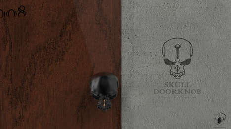 Macabre Entrance Openers - Skull Doorknob by Forever Fineness is a Deadly Piece of Decor