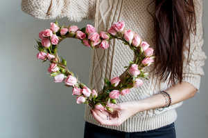 Get Your Home Ready for V-Day with a Pretty DIY Floral Heart
