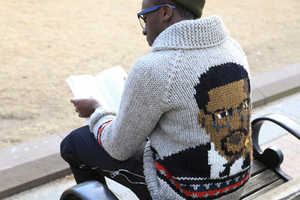 Celebrate Black History Month with the Malcolm X Sweater