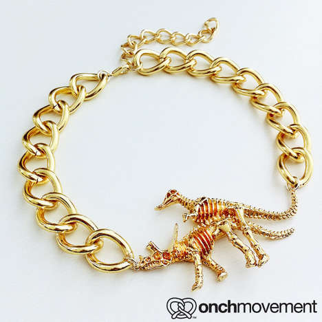 Naughty Dinosaur Jewelry - This Lucky Bones Necklace is Suggestively Quirky