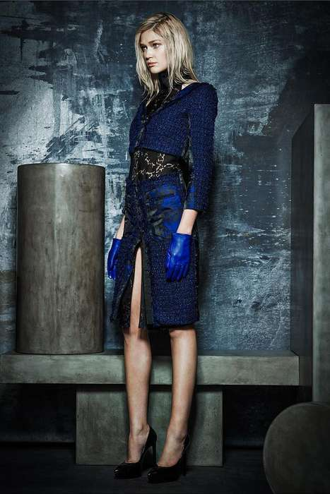 Deceptively Layered Fashion - The Rachel Roy RTW Fall 2014 Collection is Feminine-But-Cool