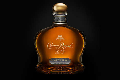 Patriotic Premium Whiskeys - The Crown Royal XO Pays Tribute to Canadian Heritage