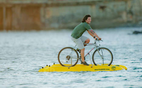 100 Oddly Enhanced Bicycles - From Water-Treading Bicycles to Multitasking Flying Bicycles
