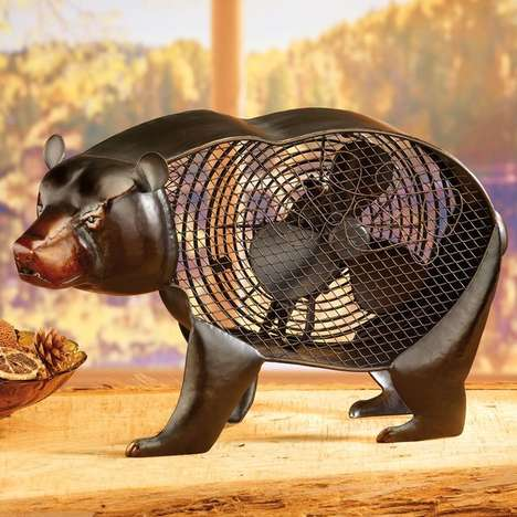 Majestic Wild Animal Fans - Keep Cool During Hotter Temperatures with an Animal Figurine Fan