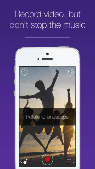 Uninterrupted Musical Video Apps - The JamCam App Uses iTunes Audio Tracks to Record Music and Video