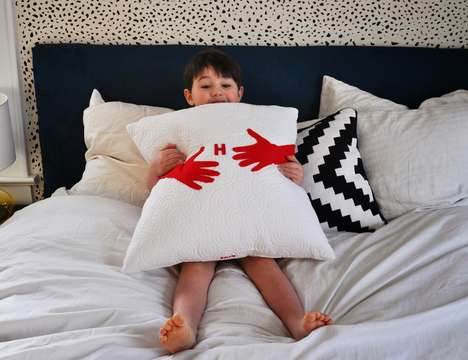 Humorously Huggable Cushions - This DIY Hug Pillow Design is Perfect for Those In Need of Affection