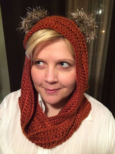 Sci-Fi Creature Scarves - This Ewok Hood-Scarf is Perfect for Fans of This Adorable Critter
