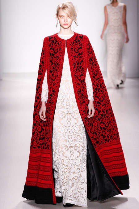Lyrically Patterned Dresses - The Tadashi Shoji Fall 2014 Gowns Feature Gorgeous Cutouts