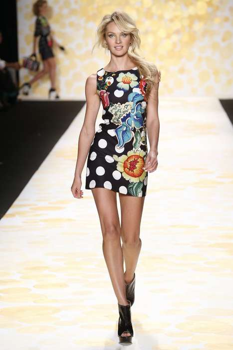 Printed Mod Womenswear - The Cheery Desigual Fall 2014 Collection Celebrates Spain