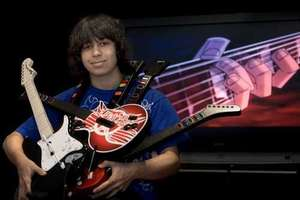 Kid Drops Out of High School to Focus on Guitar Hero