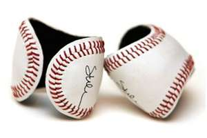 Leather Cuff Bracelets Made From Baseballs