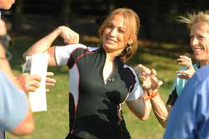 J.Lo Trains for Nautica Malibu Triathlon