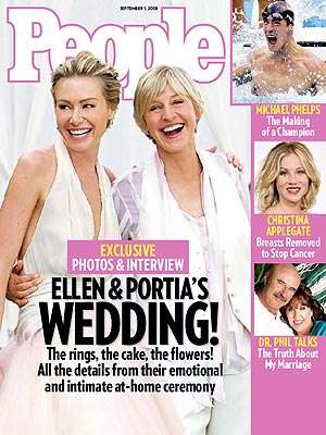 Gay Wedding Trumps Bigfoot and Olympic Gold - Ellen and Portia Are Buzzing