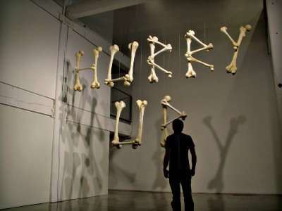 Bones as 3D Typography