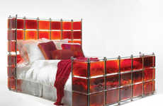 Sexy Stained Glass Beds - Red 'Hot Bed' by Xander Blue