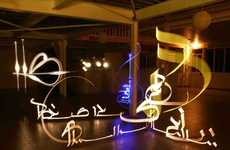 3-D Light Graffiti - Illuminated Calligraphy Art