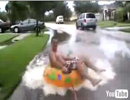 Extreme Hurricane Street Tubing - Tropical Storm Fay Mishap