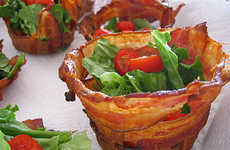 Dishes Made of Pork - Bacon Cups and Bowls