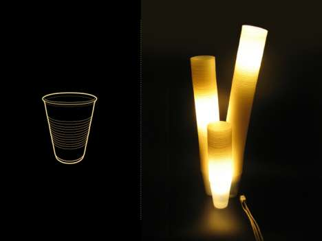 Recycled Cup Lights