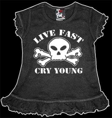 Black Baby Clothes - Punk Rock & Goth Baby Fashion