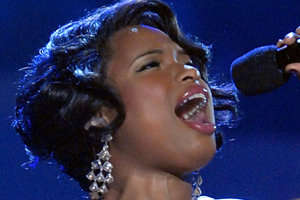 Jennifer Hudson's Star Spangled Banner for Obama