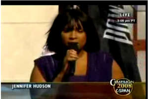 Jennifer Hudson's National Anthem for Obama