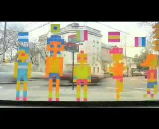 Stop Motion Post-it Commercials - Nike Human Race 10K Sticky Notes