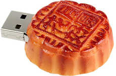 Fake Food Flash Drives - 4 GB of Chinese Mooncake