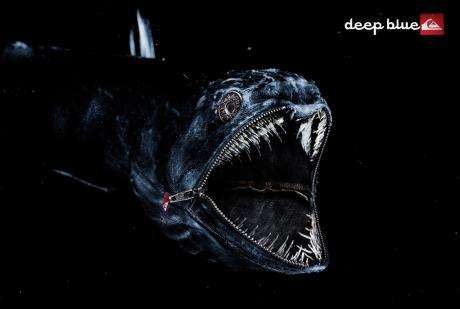 Denim Fish -  Extraordinary Quiksilver Deep Blue Ads