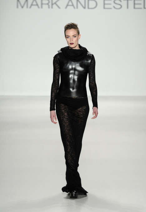 Body-Augmenting Womenswear - The Mark and Estel Fall 2014 Fashions Play with Masculine Elements
