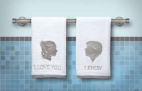 Romantic Sci-Fi Washcloths - The Empire Strikes Back Towels Let You Express Your Love Like Han Solo